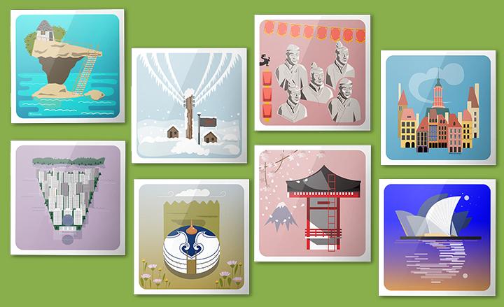 Postal de viatge il·lustrada, una cada dia | rosasunba
