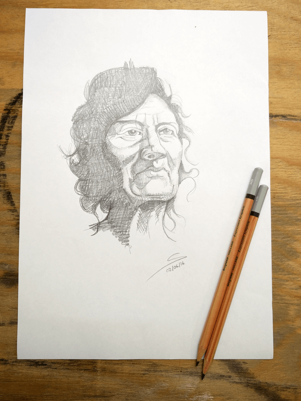 dibuix llapis dona