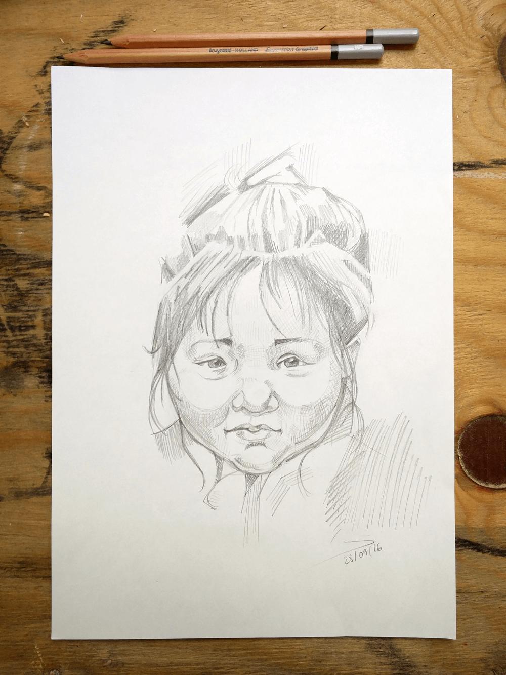 dibuix llapis nena