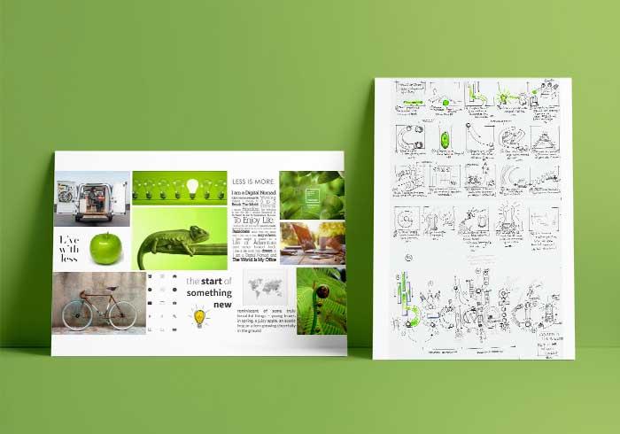 Moodboard i Storyboard becicleta.com | rosasunba